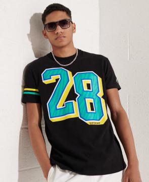 Ανδρική Κοντομάνικη Μπλούζα SUPERDRY - Sport Grit Numbers T-Shirts - Black superdry-M1010960B-02A Black