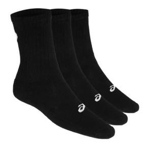 Asics Αθλητικές Κάλτσες 3PPK CREW 3 Ζευγάρια - ΜΑΥΡΟ asics-155204-0900 ΜΑΥΡΟ