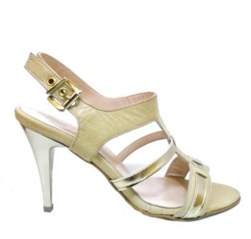 Γυναικεία πέδιλα - μπεζ χρυσό mig-156-beige-gold