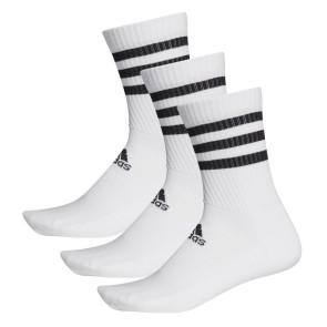 Κάλτσες adidas 3 Ζευγάρια 3-Stripes Cushioned Crew Socks - ΛΕΥΚΟ adidas-DZ9346