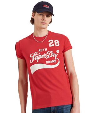Ανδρική Κοντομάνικη Μπλούζα SUPERDRY - Collegiate Graphic Standard Weight T-Shirt - Drop Kick Red superdry-M1011193A-OGS Drop Kick Red