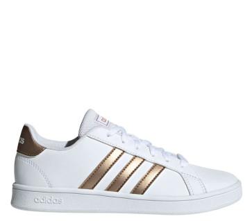 Γυναικεία Sneakers Adidas Grand Court K - Λευκό Ροζ Χρυσό adidas-EF0101