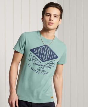 Ανδρική Κοντομάνικη Μπλούζα SUPERDRY - Workwear Graphic Standard Weight T-Shirt - Cerulean Dusk superdry-M1011196A-5CI Cerulean Dusk