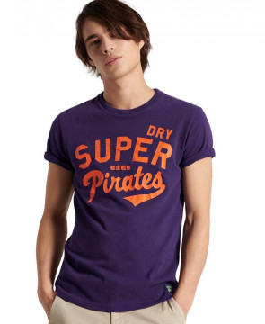 Ανδρική Κοντομάνικη Μπλούζα SUPERDRY - Collegiate Graphic Standard Weight T-Shirt - Lex Purple superdry-M1011193A-NOA lex purple