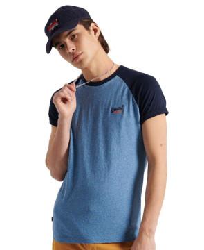 Ανδρική Κοντομάνικη Μπλούζα SUPERDRY - Organic Cotton Baseball T-Shirt - Bright Blue Grit superdry-M1010864A-5ED Bright Blue Grit