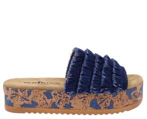 Γυναικείες Ανατομικές Πλατφόρμες Walk Me - Μπλε Κρόσια