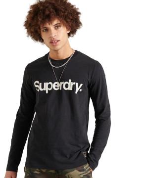 Ανδρική Μακρυμάνικη Μπλούζα SUPERDRY - Military Long Sleeved Graphic Top - Μαύρο superdry-M6010385A-02A Μαύρο